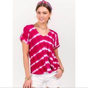 Tie Dye Front Twist Top